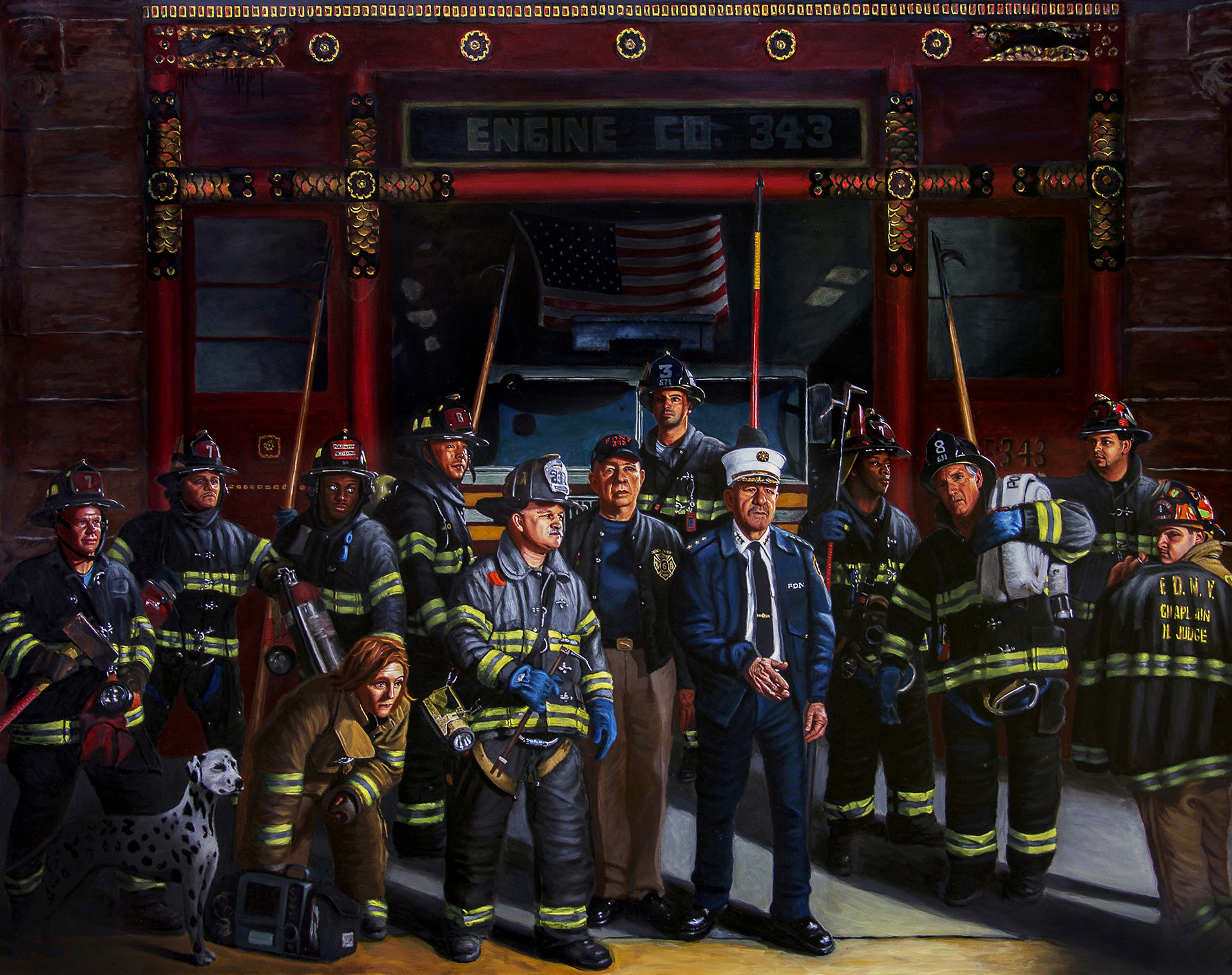 """FDNY Night Tour"" by Tom Mason"